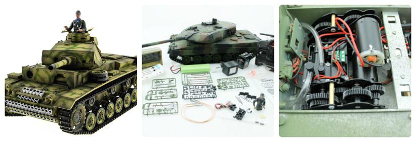 Радиоуправляемый танк с пневмопушкой