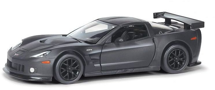 Машина Ideal 1:30-39 Chevrolet Corvette C6.R (черн. матов.)